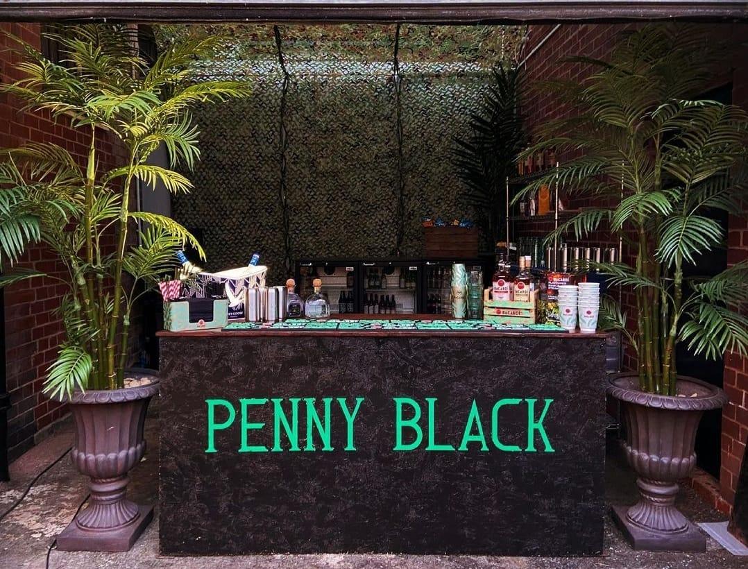 Penny Black outdoor bar